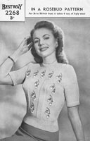 vintage ladies fair isle jumper knittinging pattern 1940s
