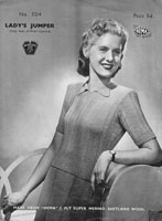 vintage ladies jumper knitting pattern 1940s