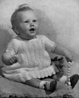baby dress knitting patteres for babies 1940s