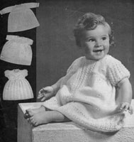 baby dresses knitting pattern from 1940s