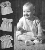baby dresses knitting pattern from 1940