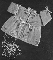 baby matinee knitting pattern 1940