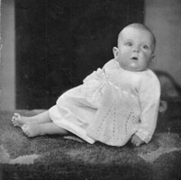 vintage baby matinee knitting pattern 1940s