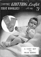 baby pram set knitting pattern 1940s
