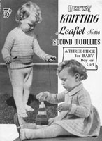 vintage baby knitting pattern for pramset