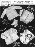 baby matinees jacket knitting pattern from 1940s