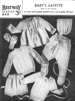 vintage bay knitting pattern from 1940s for layette