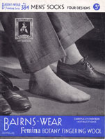 vintage mens knitting pattern for socks 1940s