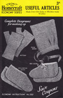 sewing pattern for making socks from knitted garments and old socks watime