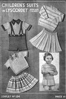 twilleys girls suit knitting pattern from 1940s