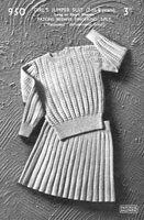 patons skirt and jumper knitting pattern from 1940s for little girl