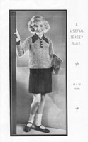 vintage girls suit knitting pattenf rom 1930s