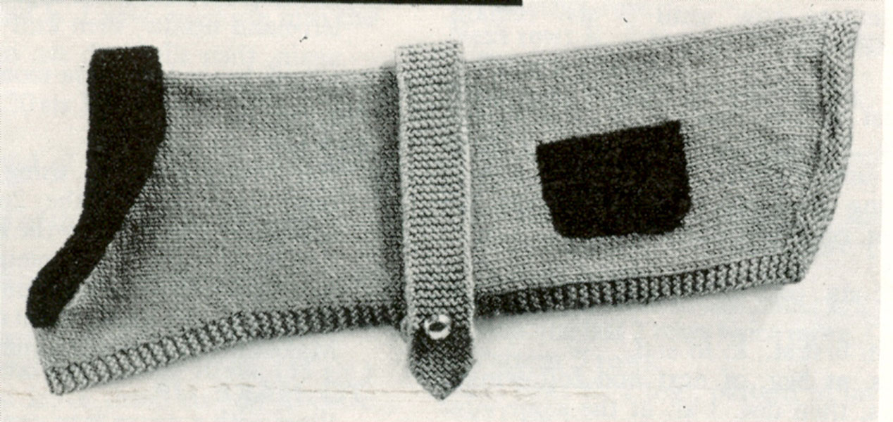 Vintage Dog Coat Knitting Pattern : Vintage Hand knitted Gift knitting patterns available from ...