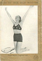 vintage ladies fair isle bikini knitting pattern