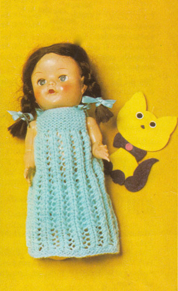 Knitting Pattern Dolls Knickers : Vintage knitted dolls clothes patterns available from The Vintage Knitting Lady