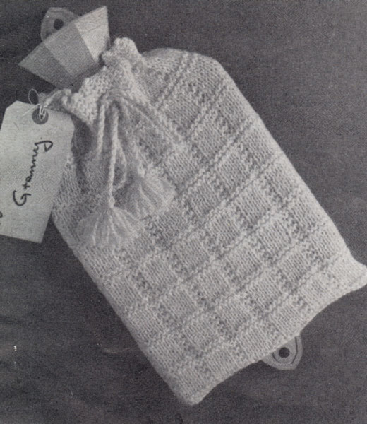 Easy Hot Water Bottle Knitting Pattern : Hot Water Bottle Cover knitting patterns available from The Vintage Knitting ...
