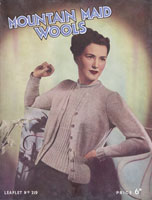ladies vintage twin set knittingn pattern mountain maid 1940s