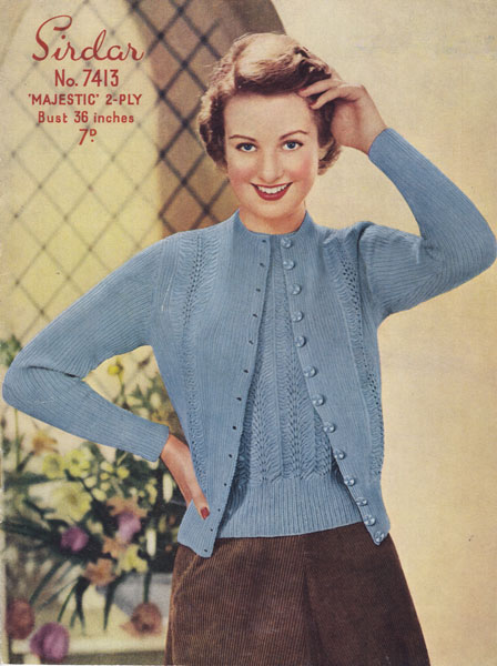 Old Sirdar Knitting Patterns : Vintage Ladies knitting patterns available from The Vintage Knitting Lady