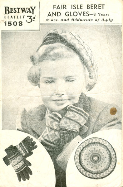 Fair Isle Beret Knitting Pattern : Vintage Ladies Fair Isle Babies and childrens Bonnets Berets and mittens knit...