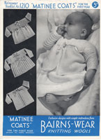 vintage 1930s baby matinee coat knitting patterns