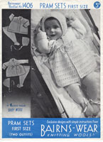 vintage pram set from 1930s knitting pattern