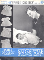 vintage baby dresses from 1930s knitting pattern