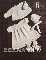 vintage baby dress and jacke tknitting pattern from 1960s