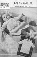 vintage baby shawl and jacket knitting pattern 1940s