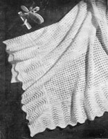 vintage shawl knitting pattern 1940s