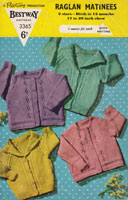 vintage cardigan knitting pattern for babies from 1950s