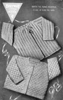 vintage baby knitting patternb for jackets 1940s