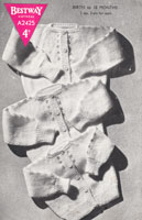 vintage baby knitting pattern fro cardigan from 1940s