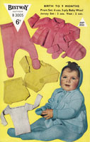 vinage baby pramset knitting pattern 1950s