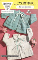 vintage baby jacke t knitting pattern from 1950s