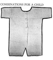 vintage baby combinations knitting pattern 1920s