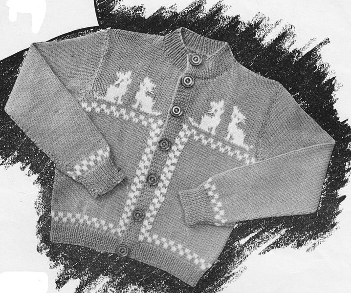 Vintage Babies and Childrens Fair Isle knitting patterns available from The V...