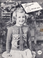 vintage picture knit koala bear knitting pattern