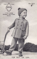 vintage baby pram set knitting pattern 1940s