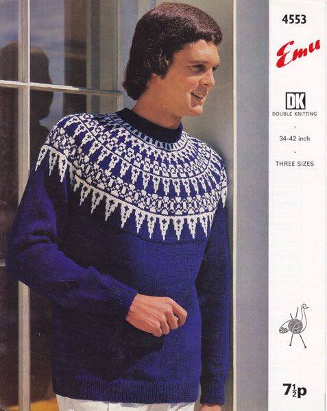 Vintage Mens Fair Isle knitting patterns available from The Vintage Knitting ...