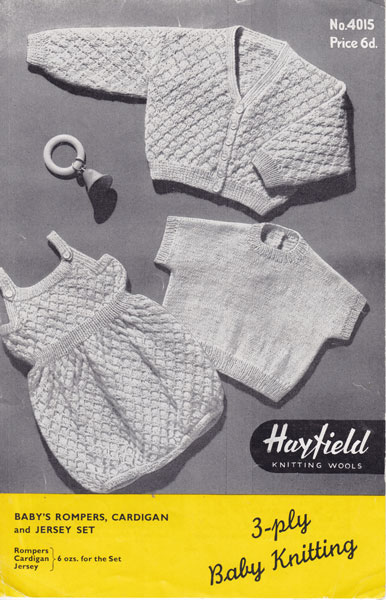 Vintage Baby Rompers Knitting Patterns From The Vintage