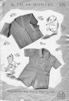 vintage baby boys trouser set knitting pattern 1950s