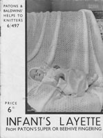 vintage baby shawl and layette knitting pattern 1930s