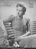 vintage 1930s ladies summer jumper vintage knitting pattern patons 2670