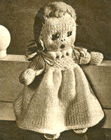 vintage knitted doll knitting pattern