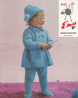 vintage outdoor set for toddler knitting pattern 1960
