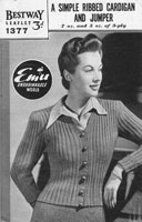 vintage ladies cardigan knitting pattern bestway 1940s