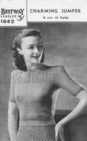 vintageg ladies summer top bestway 1940s