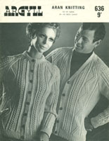 vintage aran knitting pattens for children