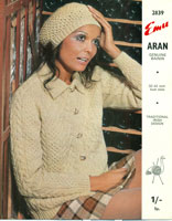 Ladies Aran Vintage Knitting Pattern