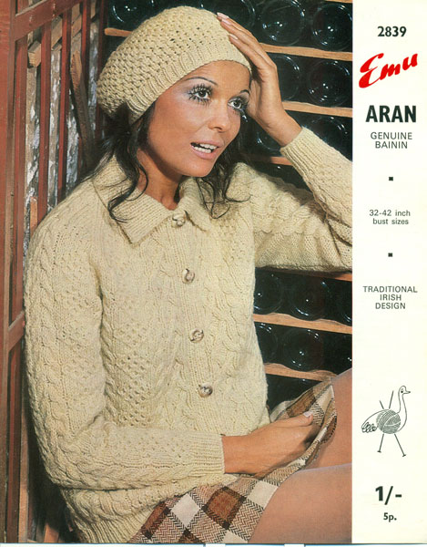 7394469e7 Vintage Ladies Aran knitting patterns available from The Vintage ...